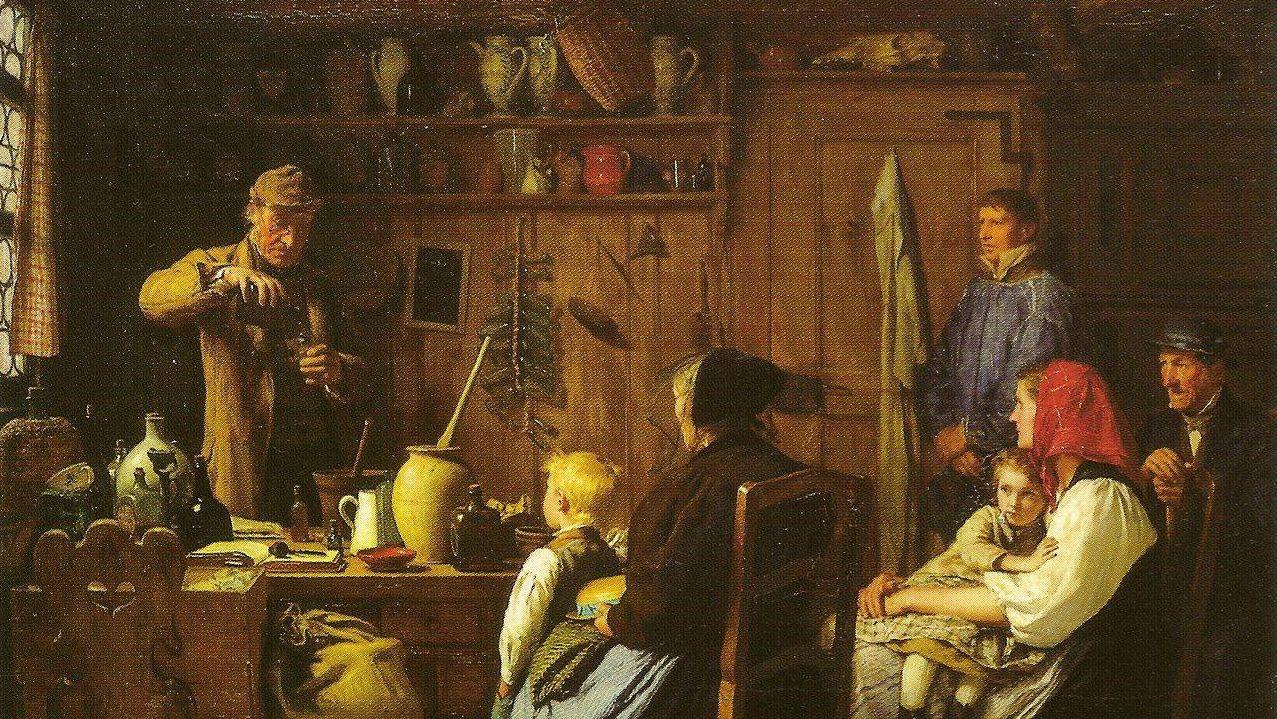 Альберт Анкер. Шарлатан (фрагмент). 1879 г.