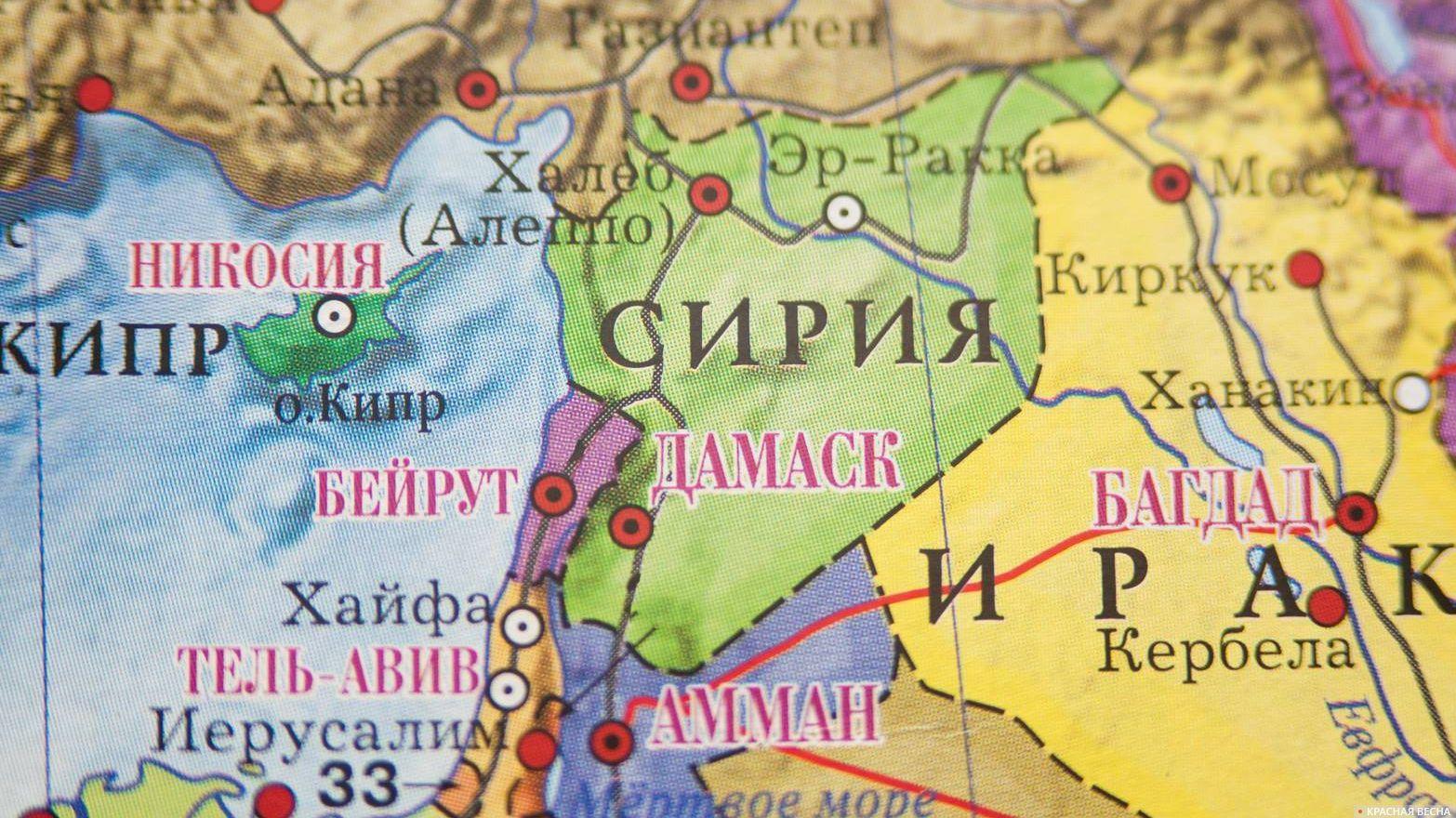 Карта мира. Ливан. Бейрут