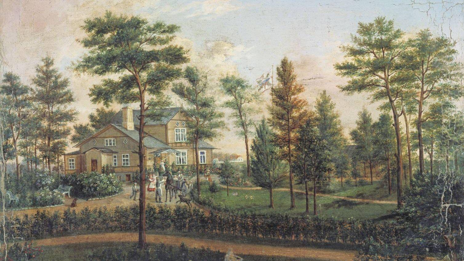 Галактионов Степан. Дача в парке. 1852
