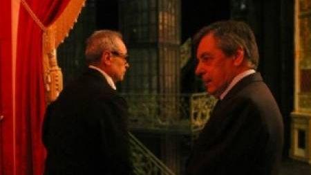 Бывший премьер-министр Франции Франсуа Фийон в Александринском театре
