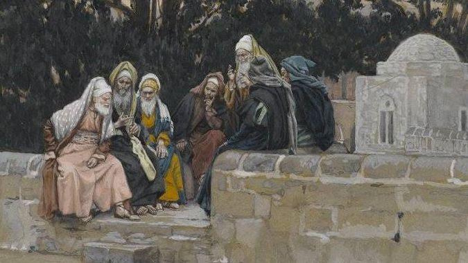 Дж. Тиссо. Фарисеи и Иродиане сговариваются против Иисуса. 1886-1894