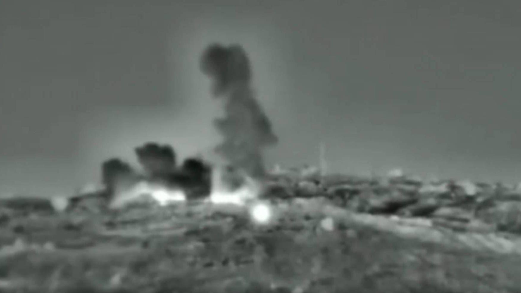 Цитата из видео ракетного удара по территории Сирии