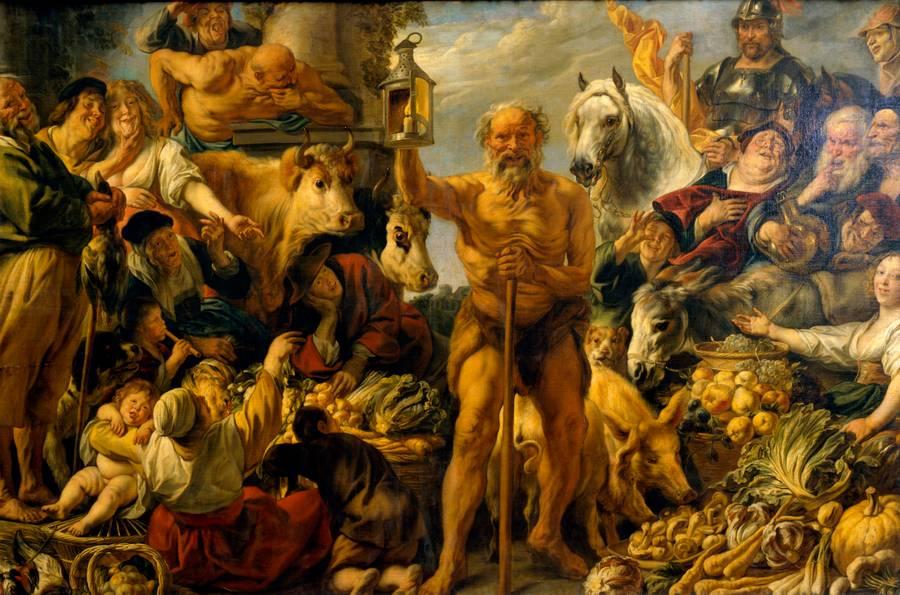Йорданс Якоб. Диоген, ищущий Человека. 1641-1642