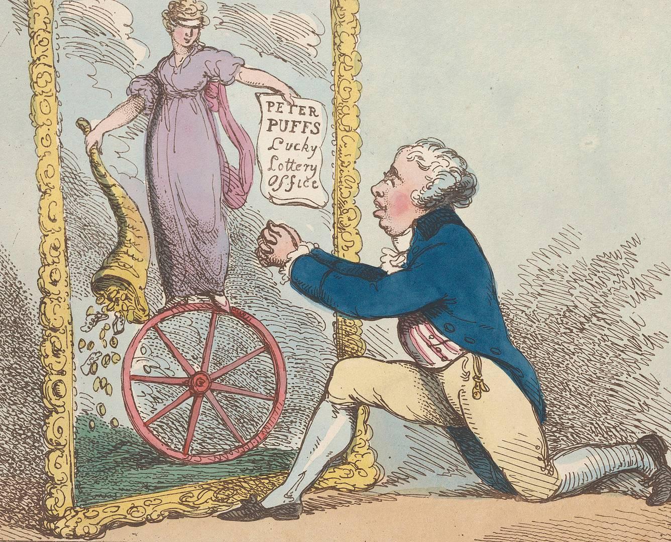 Томас Роулендсон. Молитва управляющего лотерейного офиса. 1801