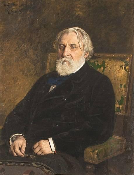 Репин Илья.  портрет писателя Ивана Сергеевича Тургенева (1874)
