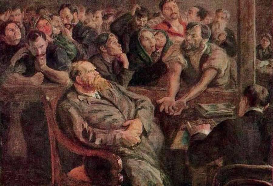 Николай Иванович Верхотуров. Расчёт (Перед стачкой). 1910 г.
