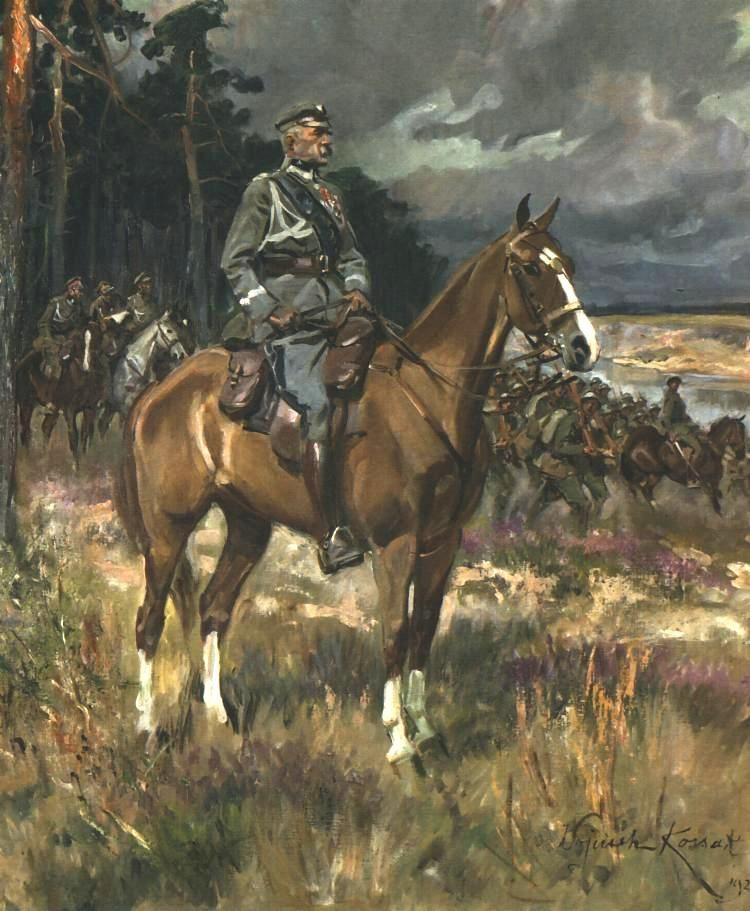Войцех Коссак. Юзеф Пилсудский на коне. 1928