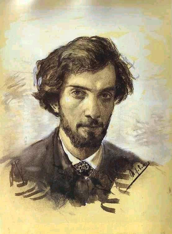 Исаак Левитан, Автопрортрет, 1880 год