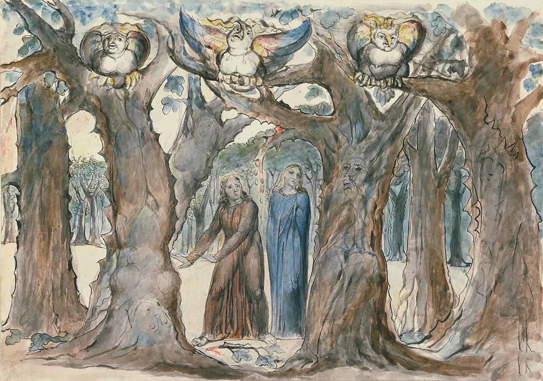 Уильям Блейк. Дерево самоубийц. 1824–1827