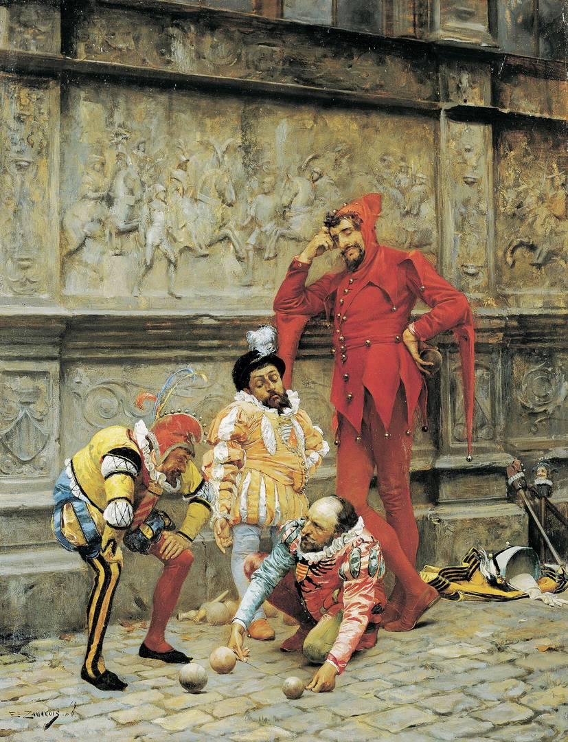 Эдуардо Замакоис-и-Забала. Шуты, играющие в петанк. 1868