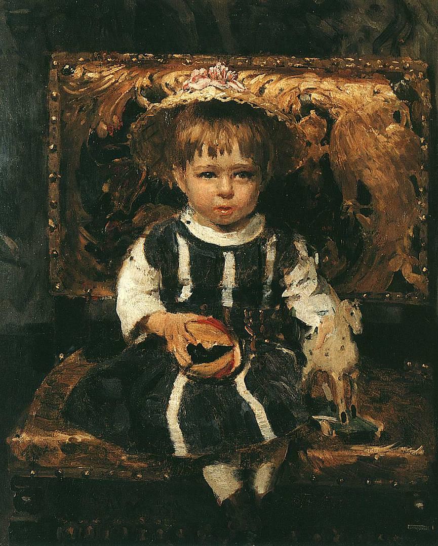 Илья Репин. Портрет Веры Репиной, дочери художника. 1874