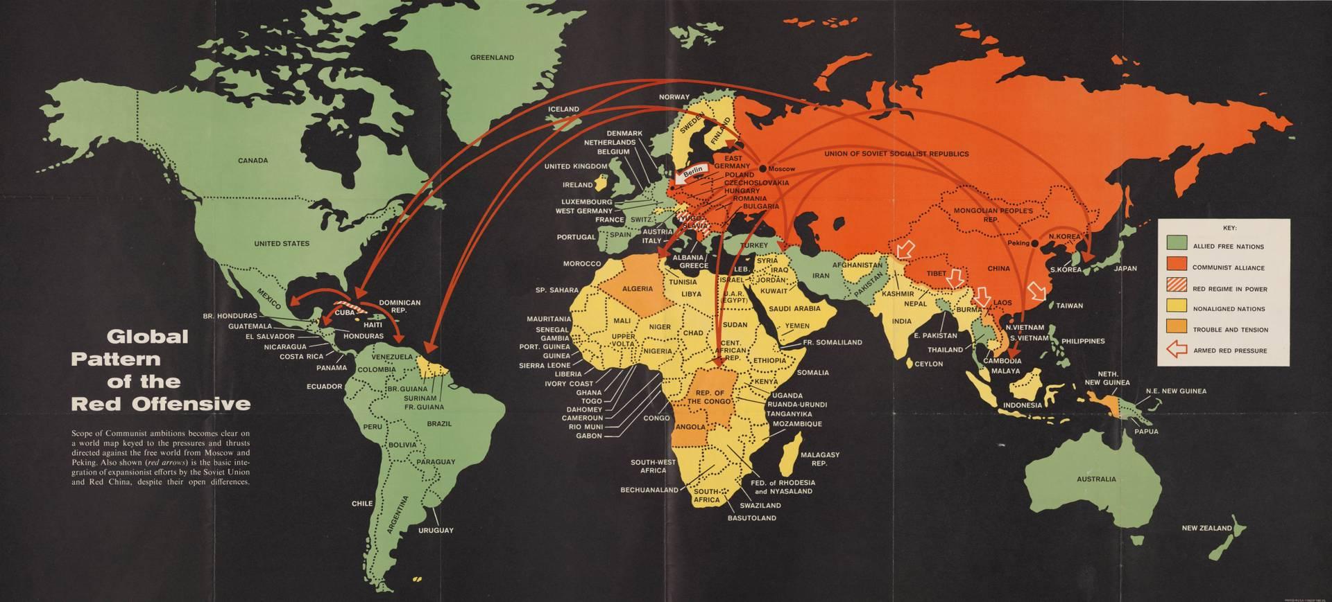 «Глобальная модель Красного наступления» из американской брошюры времен холодной войны. 1962