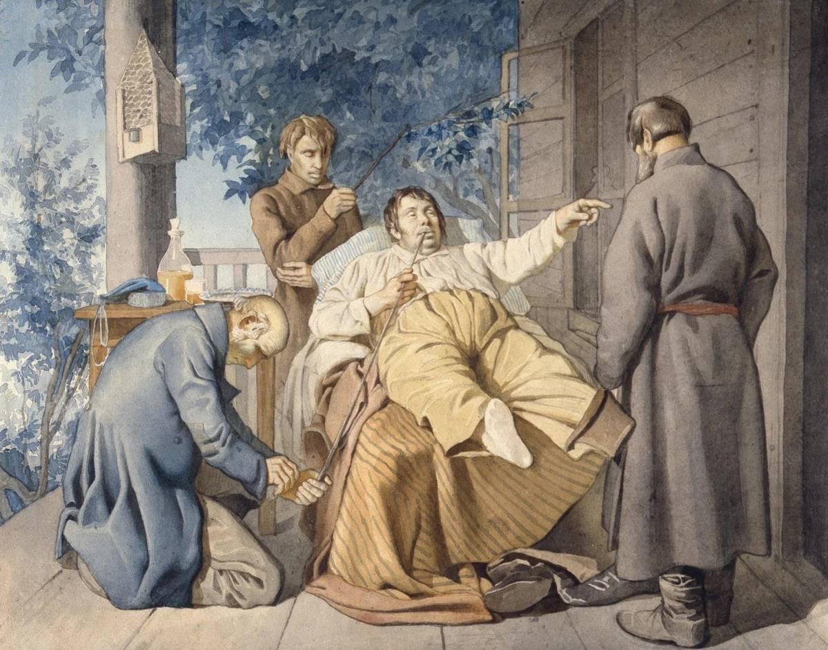 Константин Трутовский, Отдых помещика. 1853