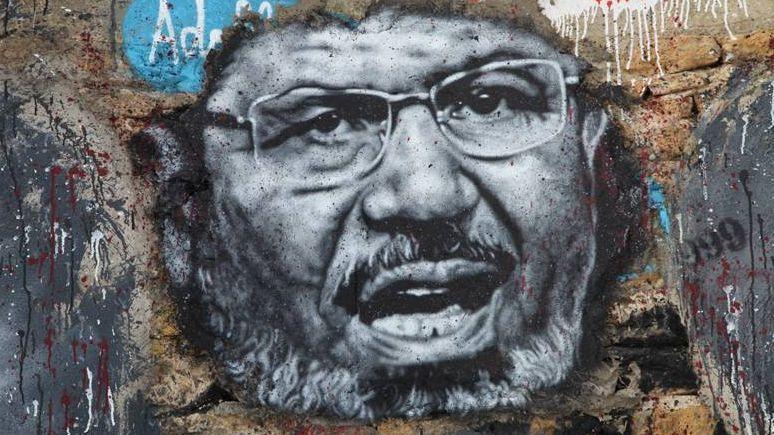 Мухаммед Мурси. Граффити