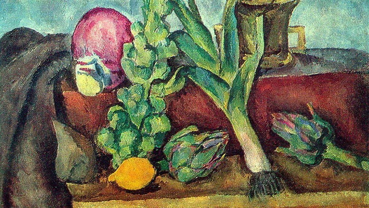 Петр Кончаловский. Овощи (фрагмент). 1916