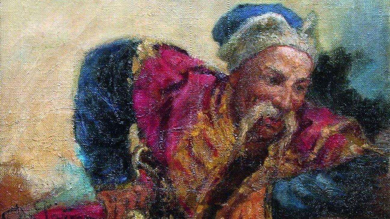 Илья Репин. Казак (Атаман Серко). 1889