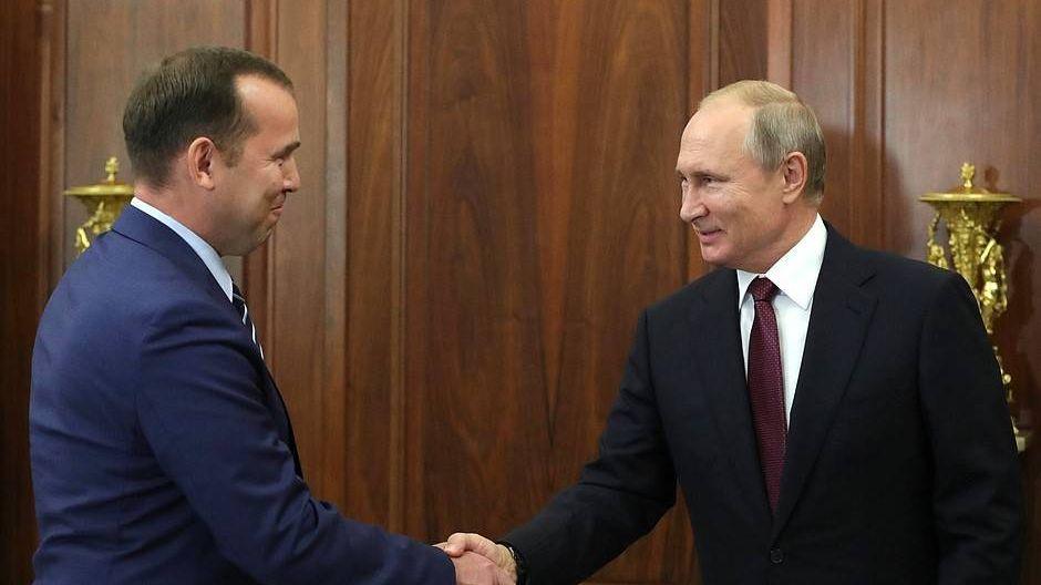 Вадим Шумков и Владимир Путин