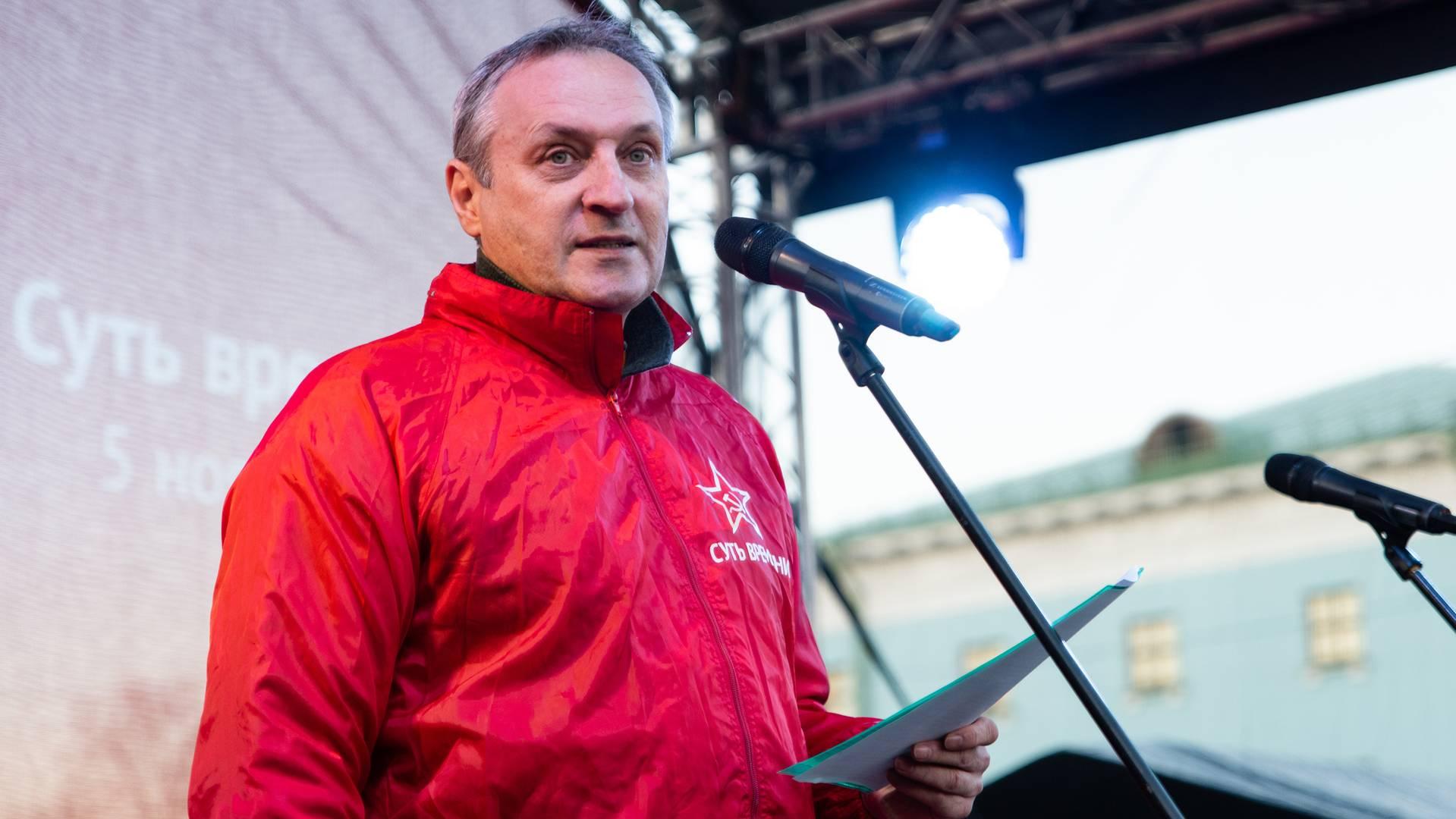 Игорь Кудряшов на митинге «Сути времени» в Москве, 5 ноября 2018 г.