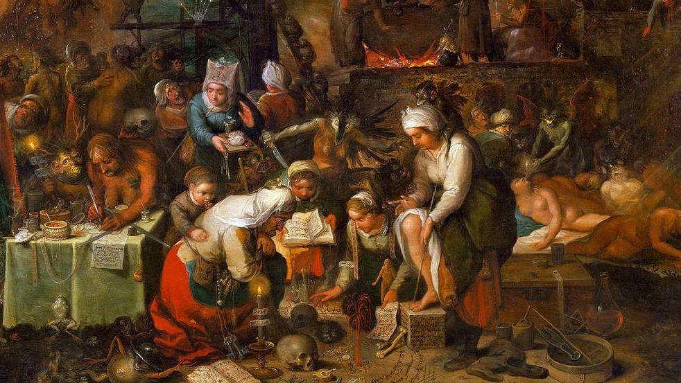 Франс Франкен Младший. Шабаш ведьм. Фрагмент. 1607