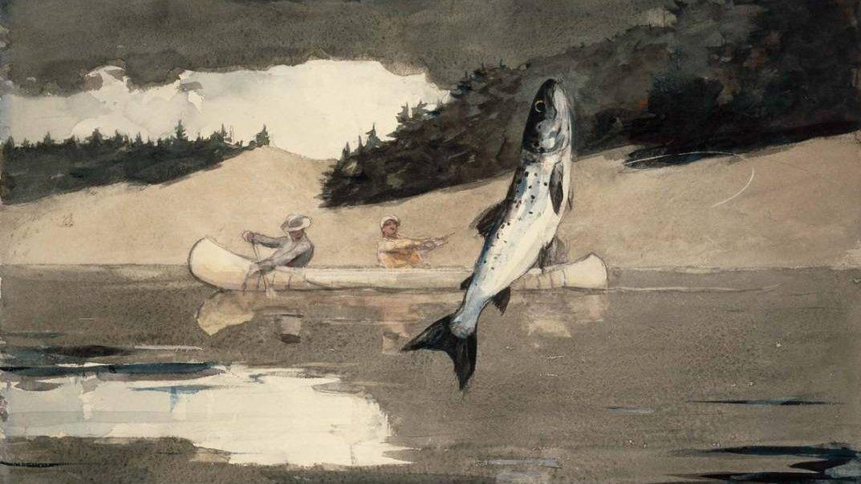 Уинслоу Хомер. Рыбалка. Озеро Сент-Джон, провинция Квебек (фрагмент). 1897