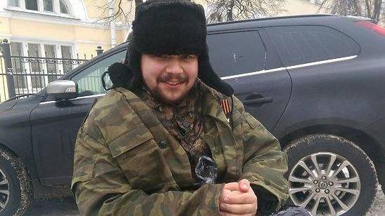 Олег Мельников в образе попрошайки