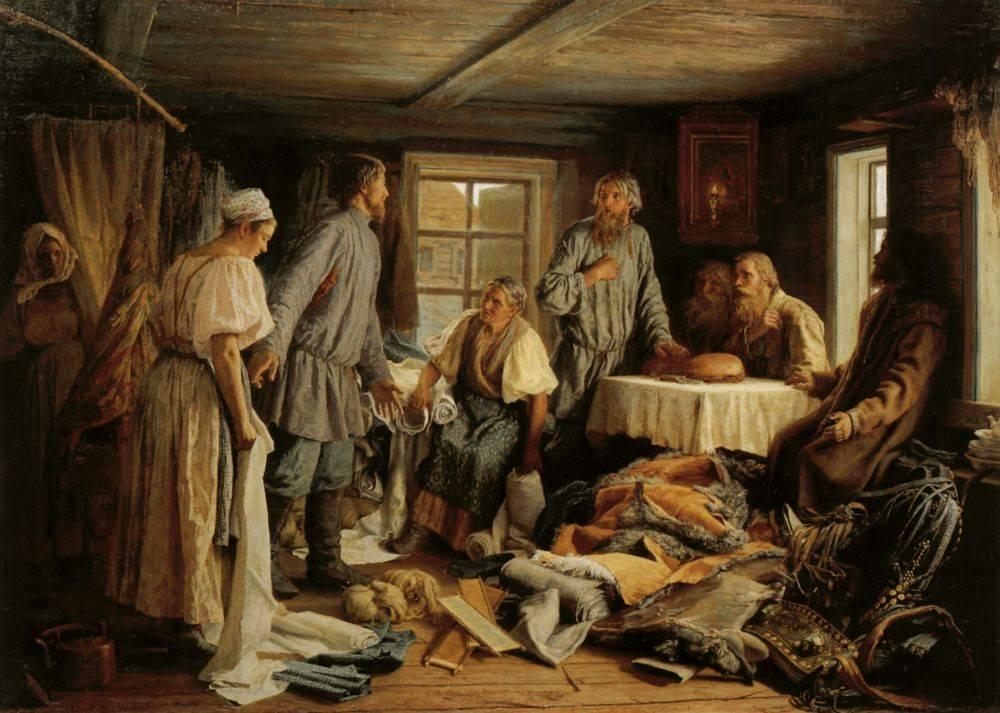 Василий Максимов. Семейный раздел. 1876