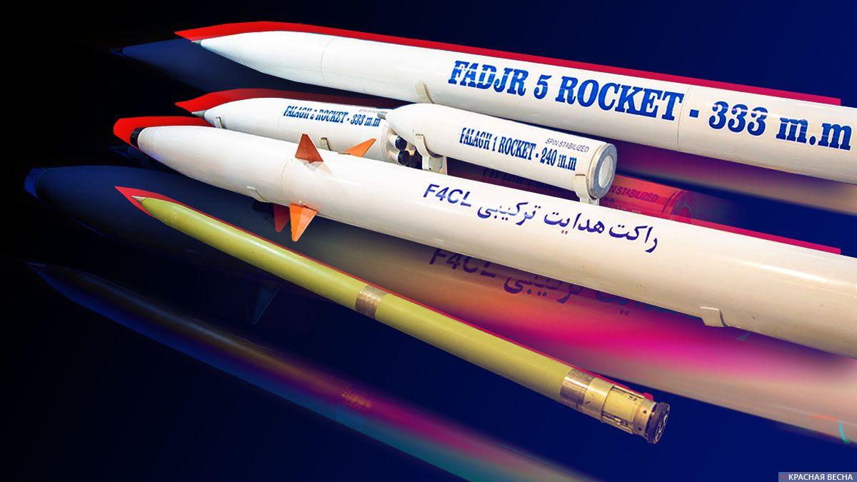 Иранские ракеты разных типов