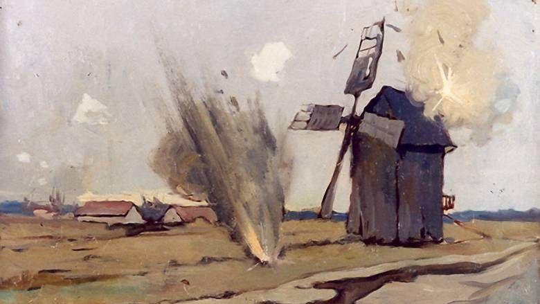 Артиллерийский обстрел неприятельского наблюдательного пункта. 1914-1917