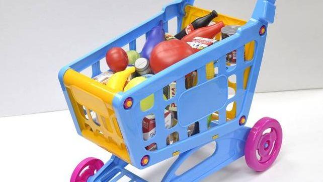 Детская корзина с продуктами