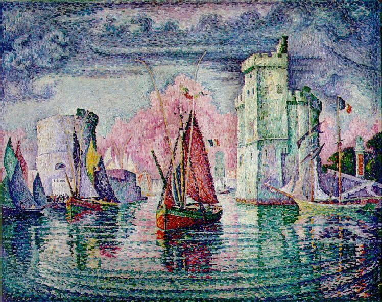 Поль Синьяк. Порт Ла-Рошель.1921