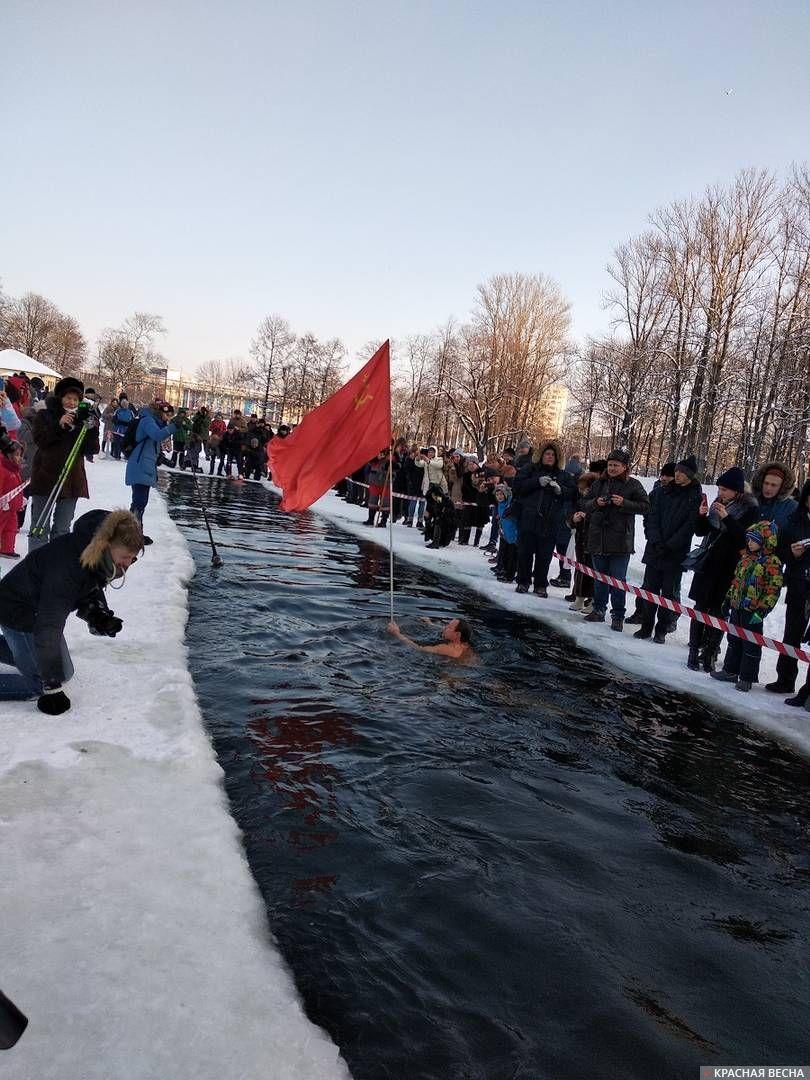 Фестиваль зимнего плавания в Московском парке Победы