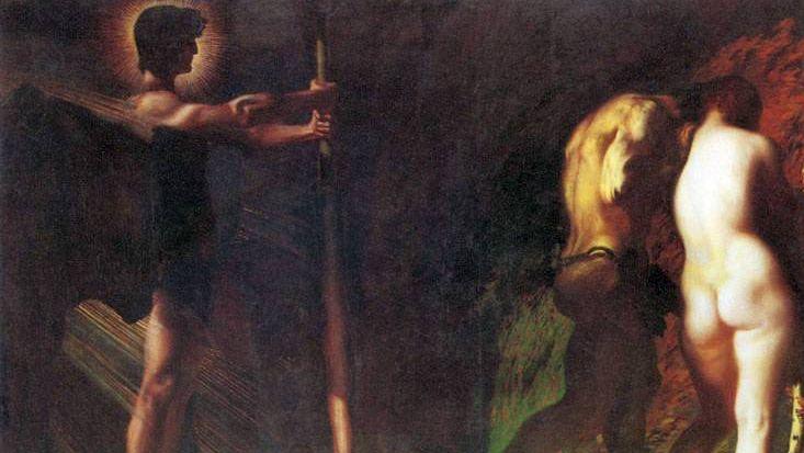 Франц фон Штук. Потерянный рай (фрагмент). 1897