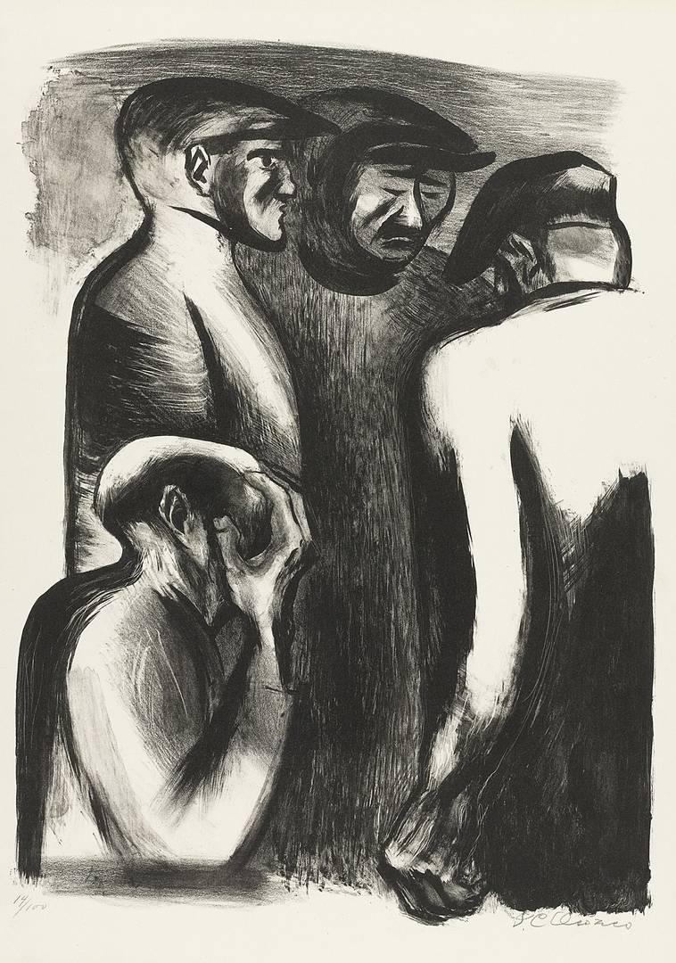 Хосе Клементе Ороско. Безработные. 1932