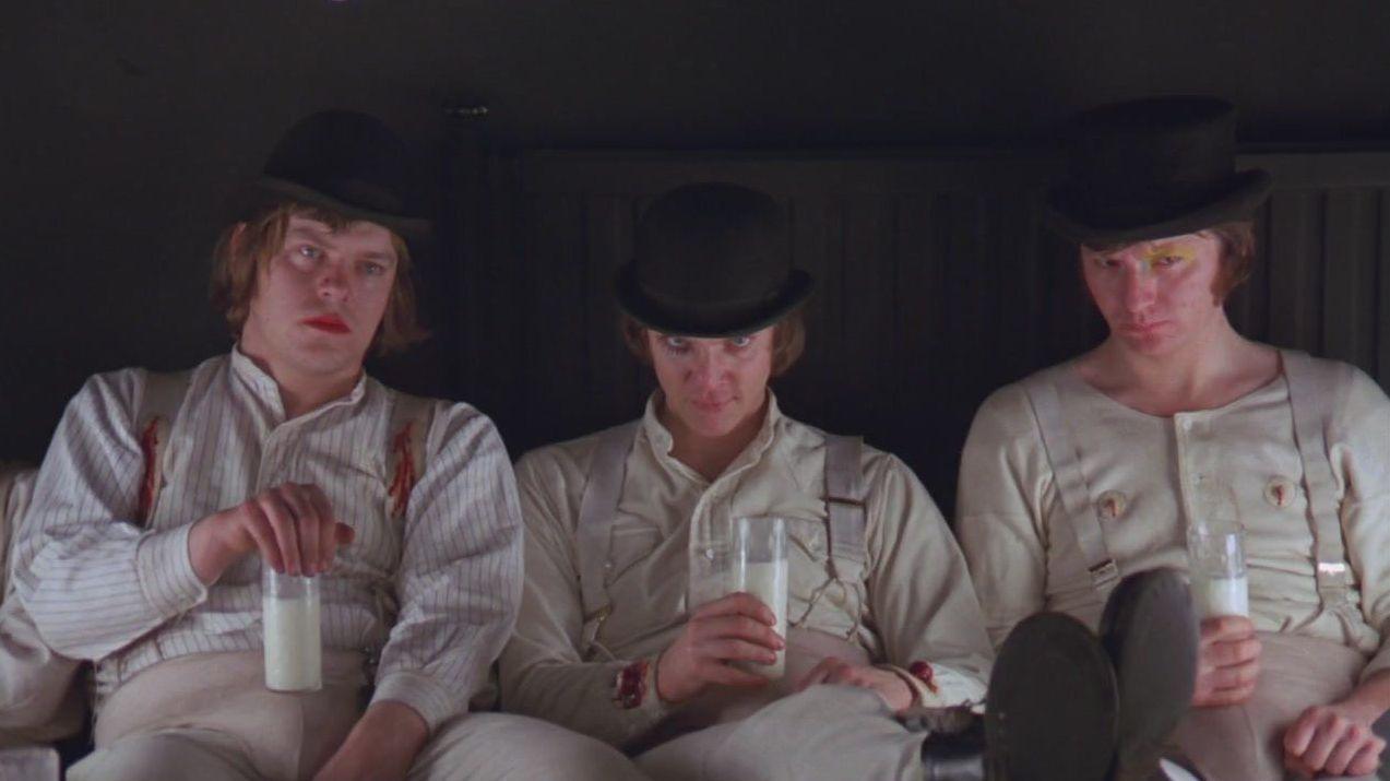 Подонки. Цитата из к/ф Заводной апельсин. реж Стенли Кубрик. Великобритания. 1971 год