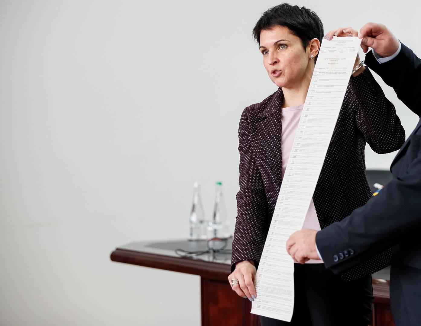 Презентация бюллетеня для голосования на выборах президента Украины. 21 марта 2019 года