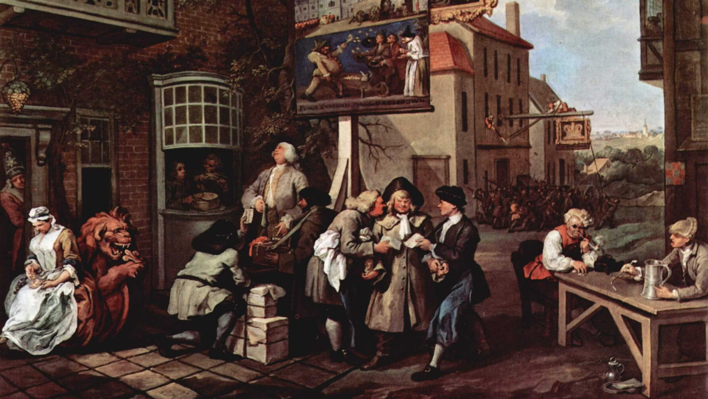 Уильям Хогарт. Выборы. Подкуп голосов. 1754-1758