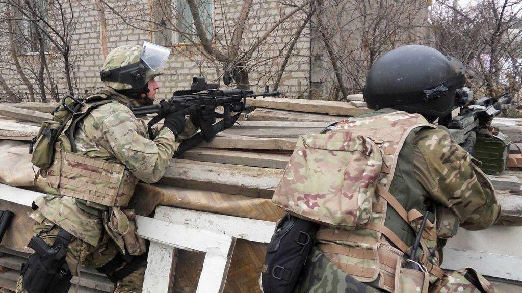 Сотрудники ФСБ России во время спецоперации на Кавказе