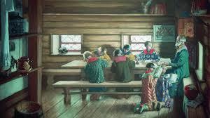 Борис Кустодиев. Земская школа в Московской Руси (фрагмент). 1907