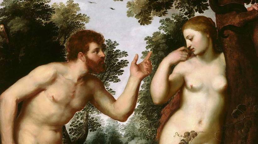 Питер Пауль Рубенс. Адам и ева (фрагмент). 1600г.