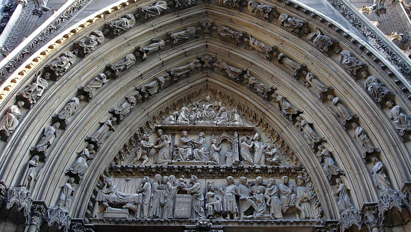 Портал собора Нотр-Дам-де-Пари