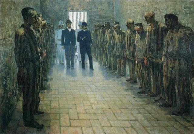 Телемако Синьорини. Тюрьма в Портоферрайо. 1890