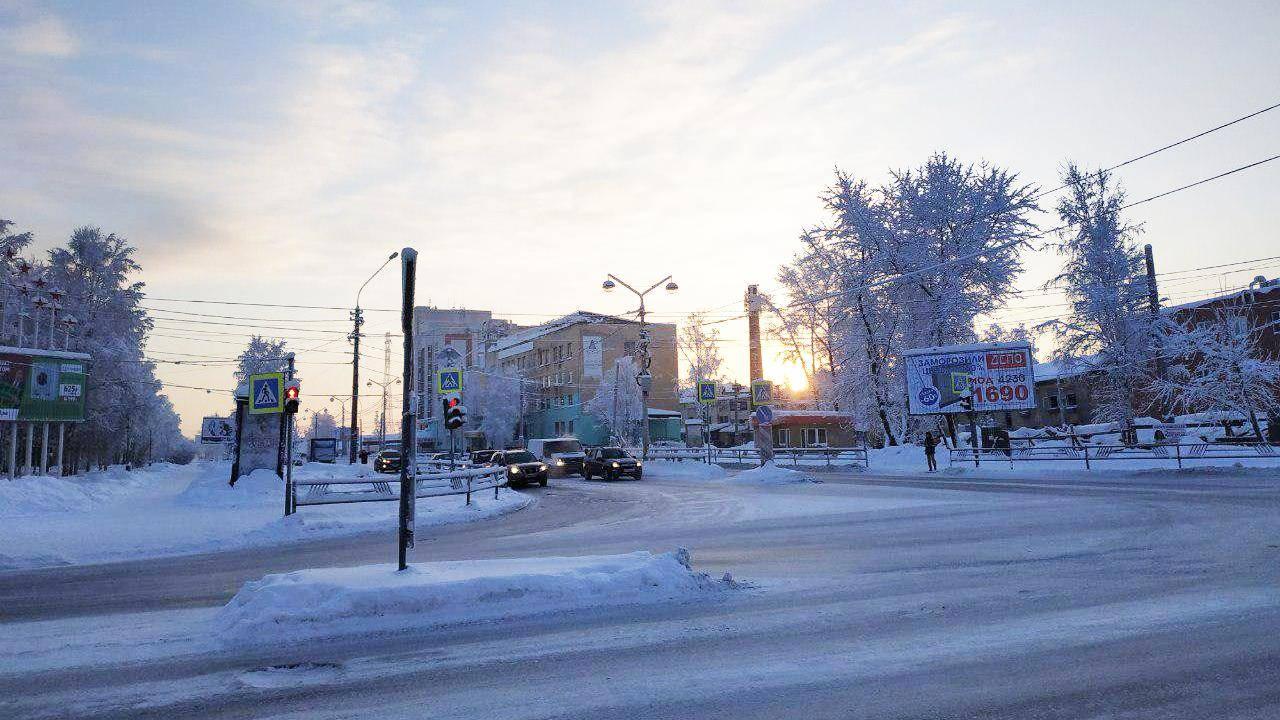 Зима в Архангельске