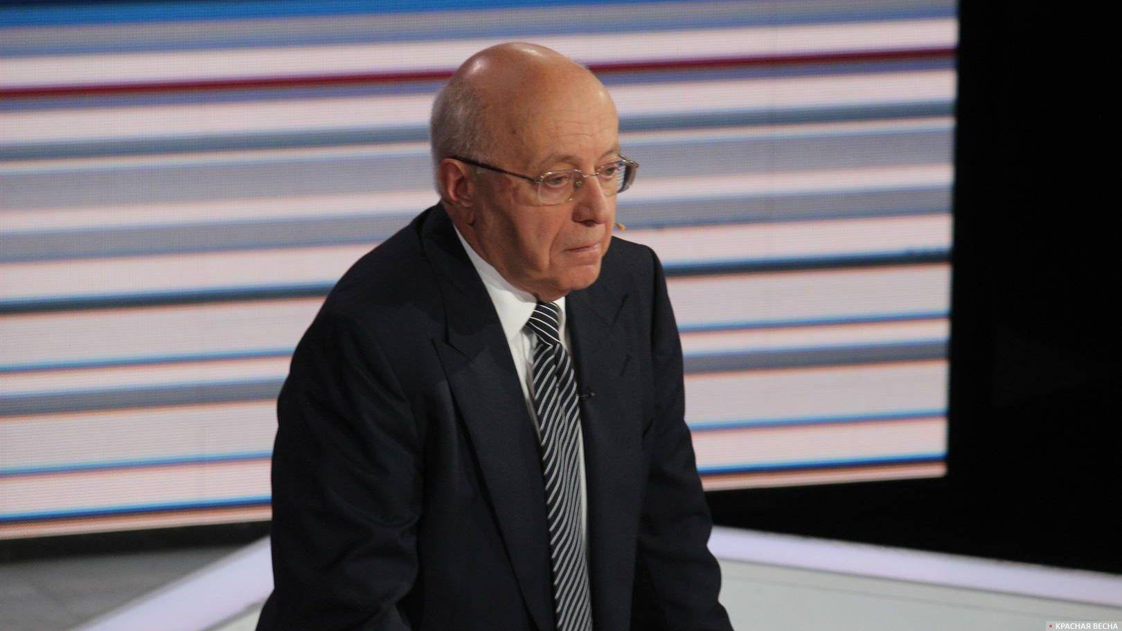 Лидер движения «Суть времени» Сергей Кургинян в программе «Воскресный вечер с Владимиром Соловьёвым»