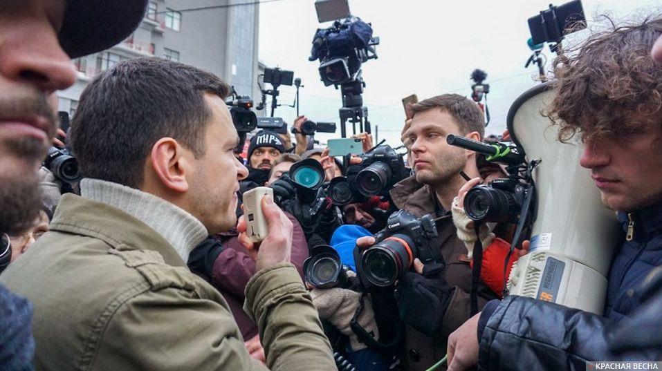 Илья Яшин на несанкционированном митинге 24.12.2017