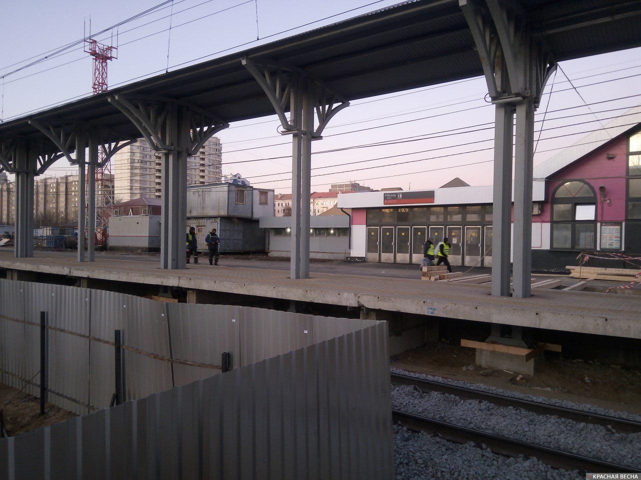 Вокзал в Подольске: ремонт платформы