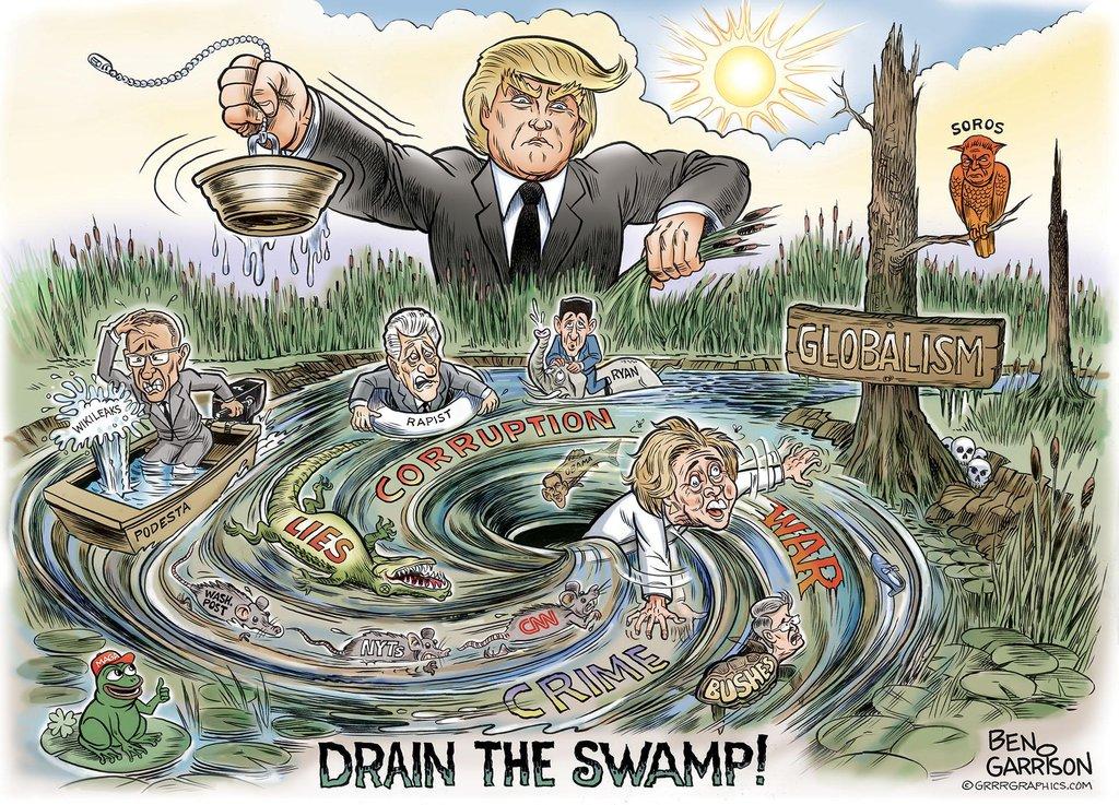 Бен Гаррисон. «Сливайте болото!» Октябрь 2016 г.