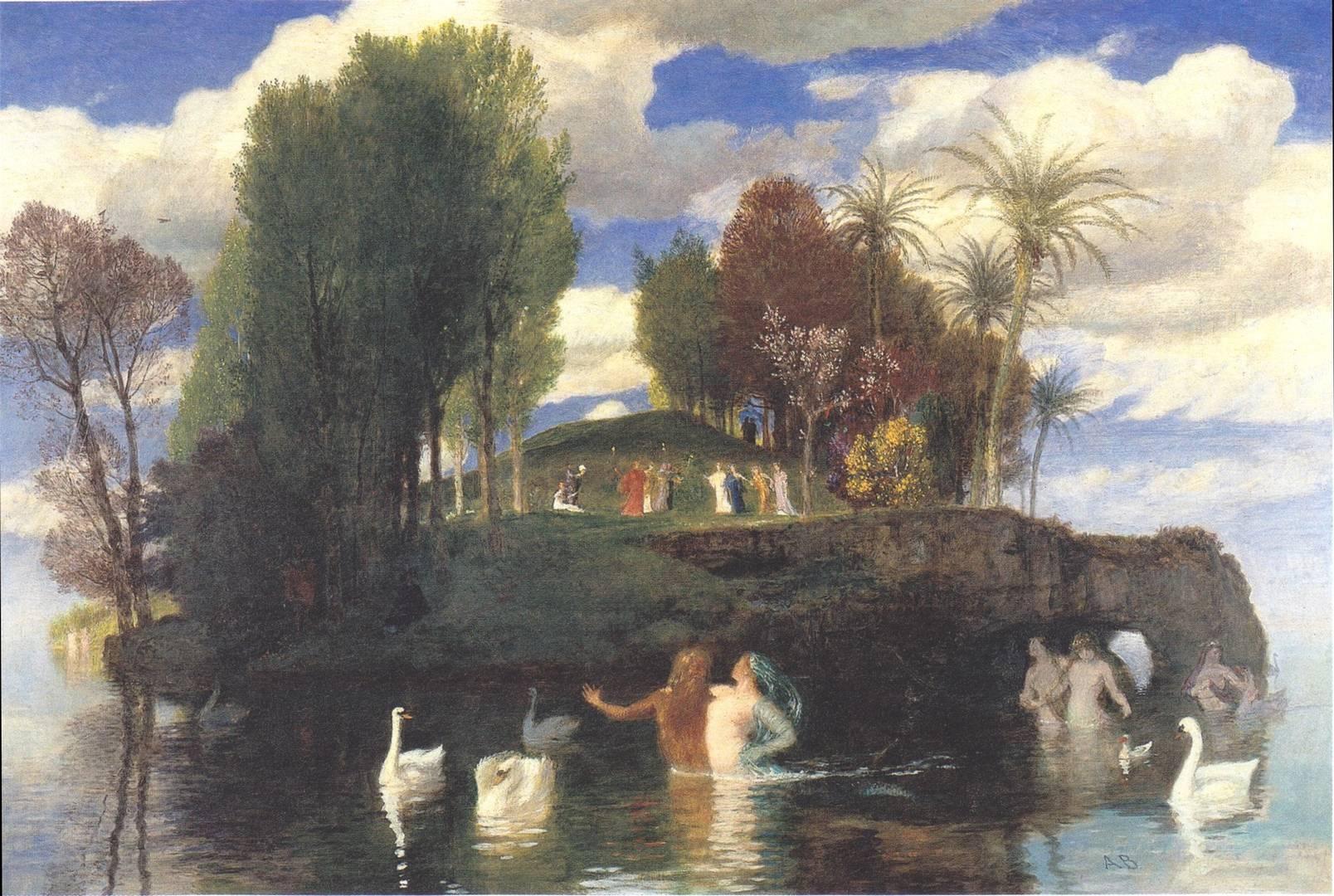 Бёклин Арнольд. Остров живых. 1888