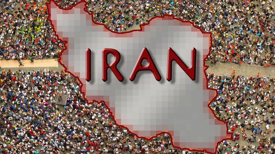 Иран с протестующими
