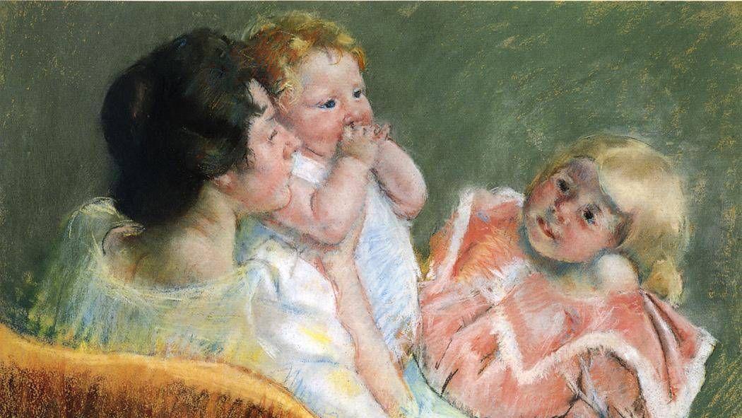 Кассат Мэри. Мать и дети (фрагмент). 1901