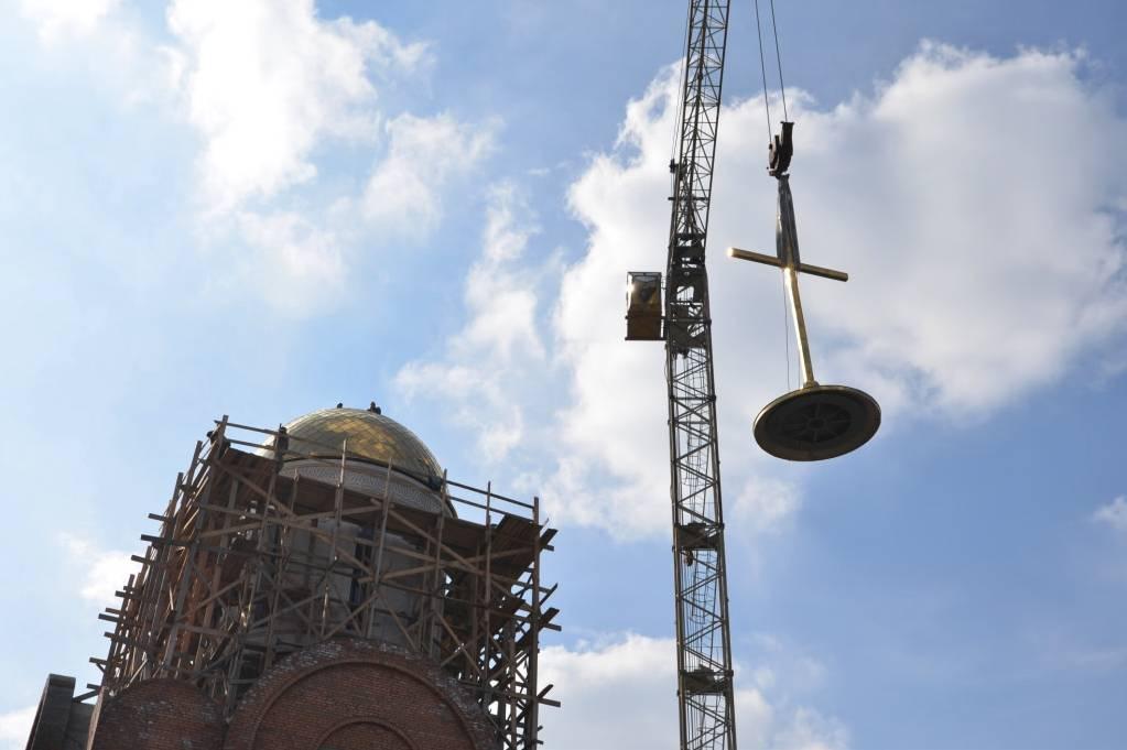 Строительство храма Новомучеников и исповедников Российских в городе Беслан